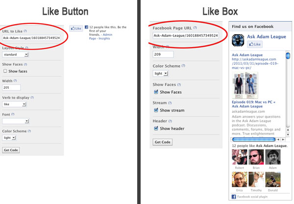 how to add facebook like button to pdf